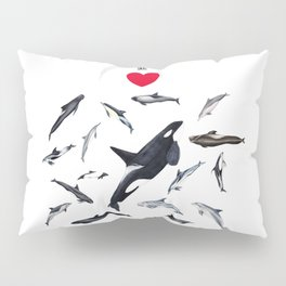 I love dolphins Pillow Sham