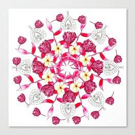Bali Inspired Nature Mandala Canvas Print