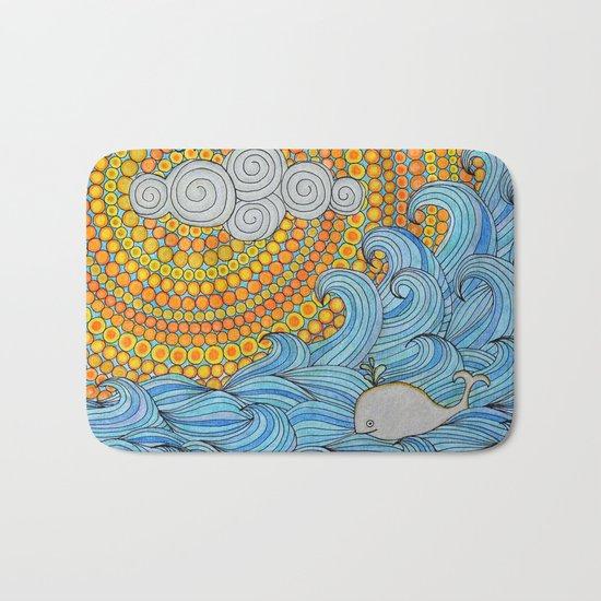 Happy whale Bath Mat