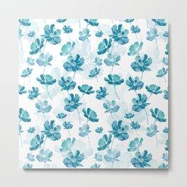 Blue cosmos flower Metal Print