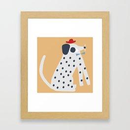 Business dog Framed Art Print