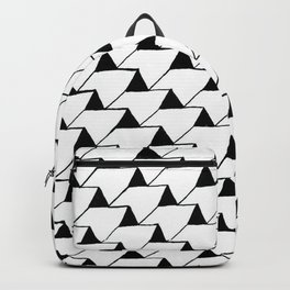 Black and White 3D Backpack