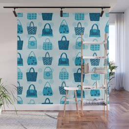 Handbag Heven Blues with Spots Wall Mural