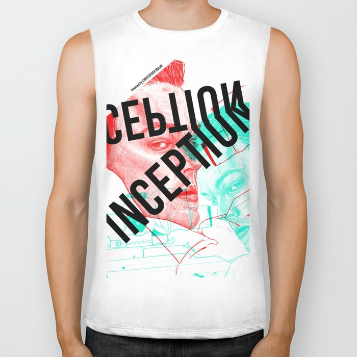 Inception - Movie Inspired Art Biker Tank