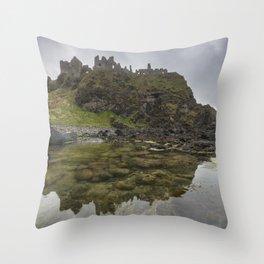 Dunluce Castle Throw Pillow