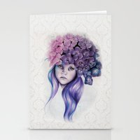 hydrangea Stationery Cards featuring Hydrangea by Sheena Pike ART
