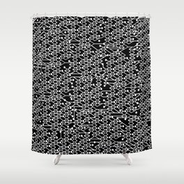 Microchip Pattern (White) Shower Curtain