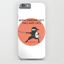 Ninja Cat Illustration iPhone Case