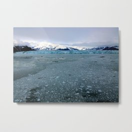 Alaska Hubbard Glacier Floating Blue Ice Metal Print
