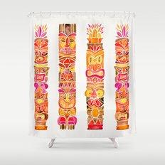 Tiki Totems – Fiery Palette Shower Curtain