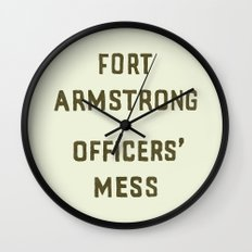 Fort Armstrong Wall Clock