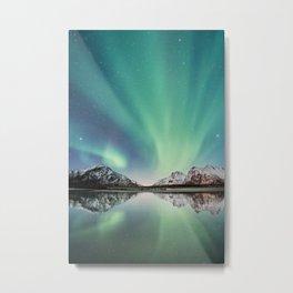 Northern Lights in Norway Metal Print