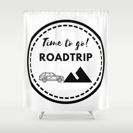 Tiempo de viajar | Time to go Roadtrip Shower Curtain