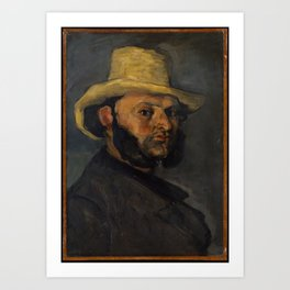 Gustave Boyer (b. 1840) in a Straw Hat,1870–71 Art Print