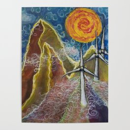 Windy Day in Tucker County Poster