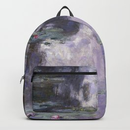 Water Lilies by Claude Monet Backpack