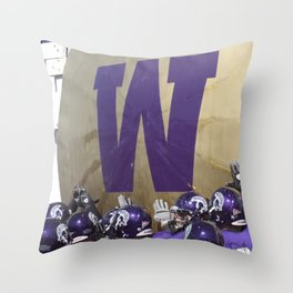 Winona State University Football Throw Pillow