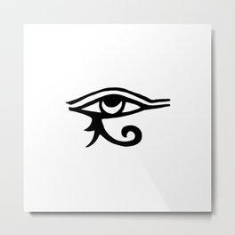 Eye Of Horus White Metal Print