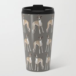 Whippet Love Pattern Travel Mug