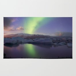 Northern Lights Iceland Rug