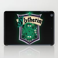 slytherin iPad Cases featuring Slytherin by Zeynep Aktaş