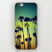 california iPhone & iPod Skins featuring CALIFORNIA by RichCaspian