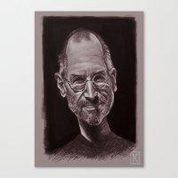 steve jobs Canvas Prints featuring Steve Jobs by AndreKoeks
