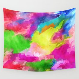Watercolor Ink Abstract Wall Tapestry