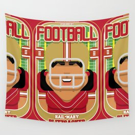 American Football Red and Gold - Hail-Mary Blitzsacker - Indie version Wall Tapestry