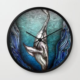 Into the Darkest Depths Wall Clock