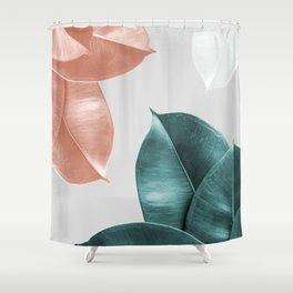 Blush ficus leaves Art print Shower Curtain
