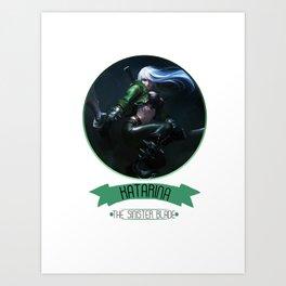 League Of Legends - Katarina Art Print