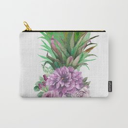 Floral Pineapple 1 Carry-All Pouch