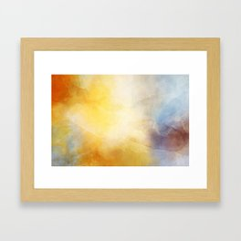 Orange and Yellow Abstract Painting Morning Glow Framed Art Print