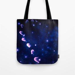 Cosmos Hart of Harts Half Blue & Purple Tote Bag