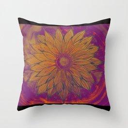 sunflower aura Throw Pillow