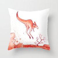 australia Throw Pillows featuring Australia by chacomics