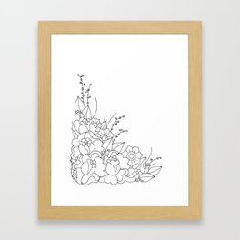 Catch Me In The Corner Framed Art Print