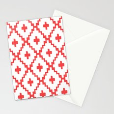 Navajo Diamonds Red Stationery Cards