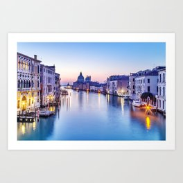 Dusk in Venice, Italy Art Print