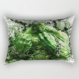 Green Hero Rectangular Pillow