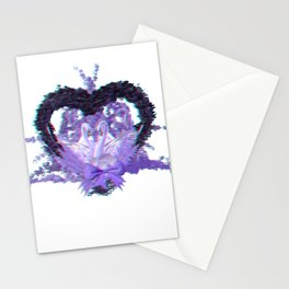 Anaglyph - romantic swan couple Stationery Cards