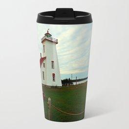 Lighthouse and Range Light of Wood Islands Travel Mug
