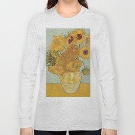 STILL LIFE: VASE WITH TWELVE SUNFLOWERS - VAN GOGH Long Sleeve T-shirt