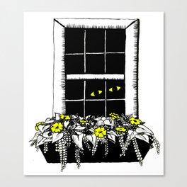 Sneakin and Peekin Canvas Print