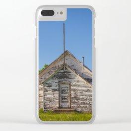 Freedom Township School, North Dakota 3 Clear iPhone Case