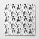 raphic pattern feathers on a white background by tanor