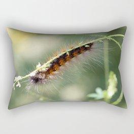 Hang in there Fuzzy Caterpillar 3 Rectangular Pillow