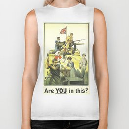 Vintage poster - Are YOU in this? Biker Tank
