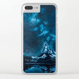 Starfall over the Matterhorn Clear iPhone Case